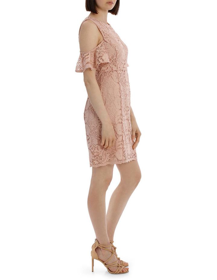lace cold shoulder dress image 2