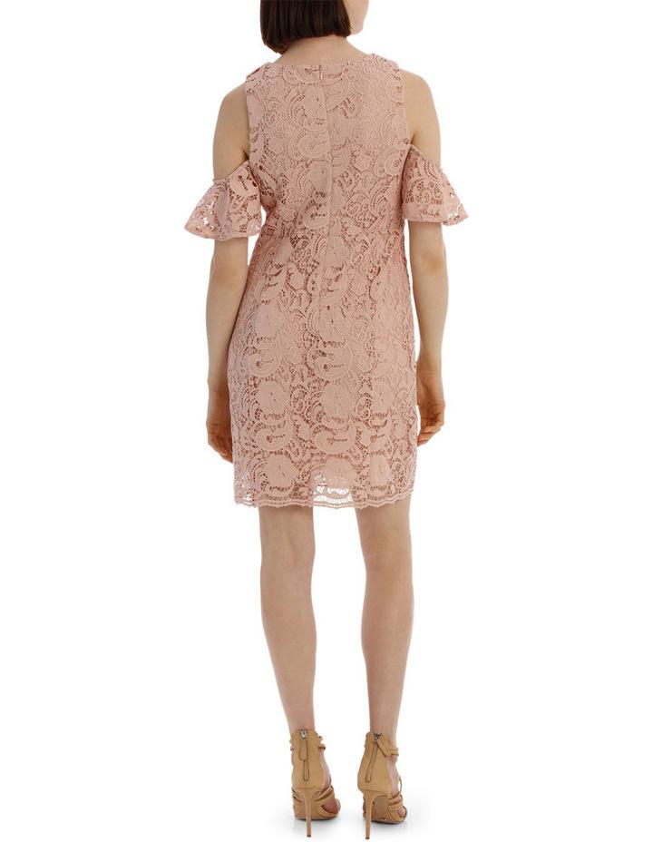lace cold shoulder dress image 3