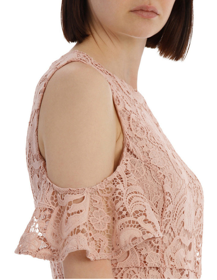 lace cold shoulder dress image 4