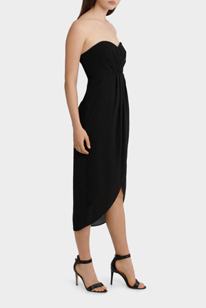 Tokito Collection - Strapless Georgette Tullip Skirt Dress