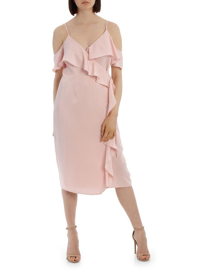 Wrap Cold Shoulder Dress image 1