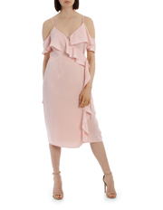 Tokito Collection - Wrap Cold Shoulder Dress