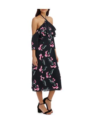 Tokito Collection - Halter Printed Maxi Dress
