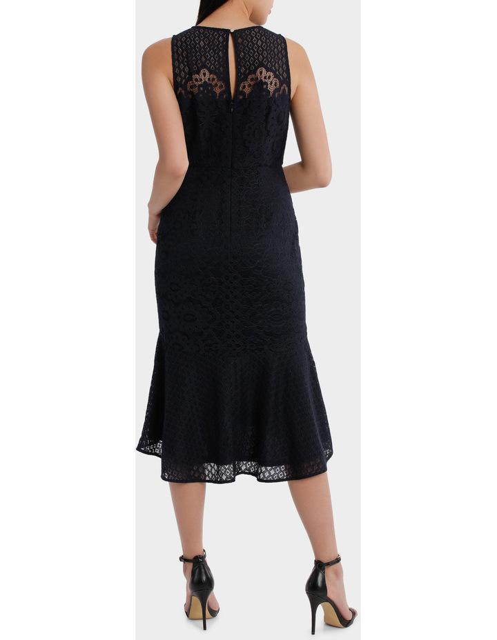 high neck lace midi dress image 3