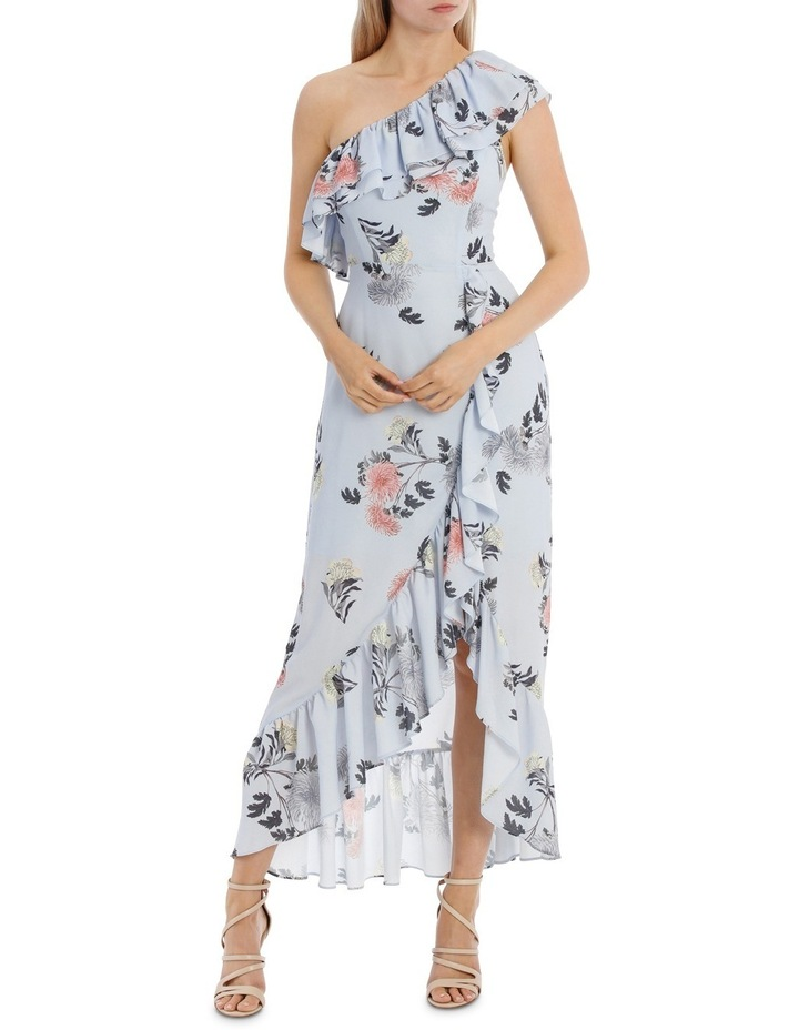 One Shoulder Ruffle Maxi Dress image 1