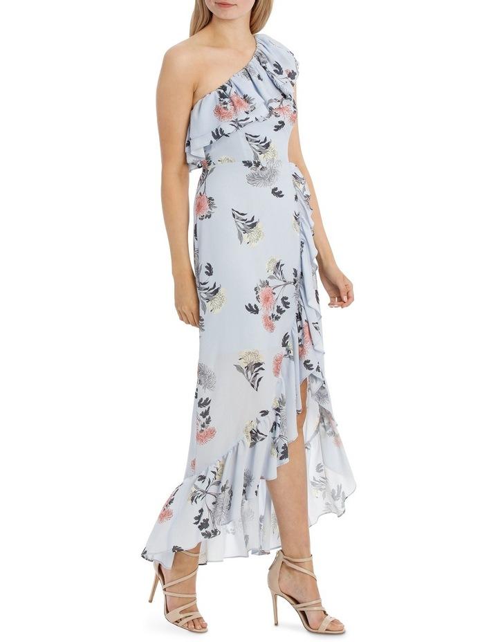 One Shoulder Ruffle Maxi Dress image 2
