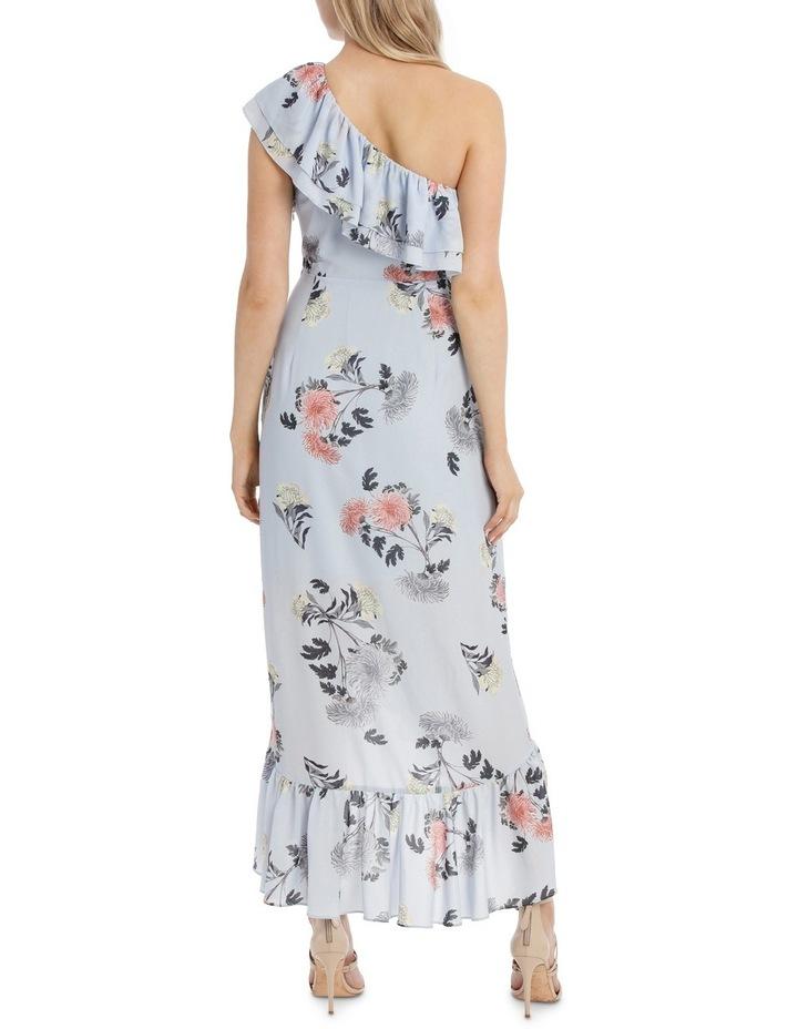 One Shoulder Ruffle Maxi Dress image 3