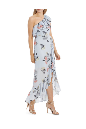 Tokito Collection - One Shoulder Ruffle Maxi Dress