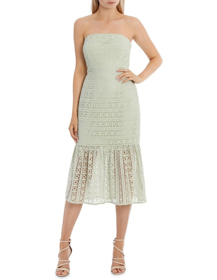 00c5c7954dcc Tokito Collection | Strapless Lace Flounce Hem Dress | MYER