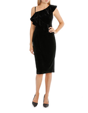 Tokito Collection - One Shoulder Velvet Dress