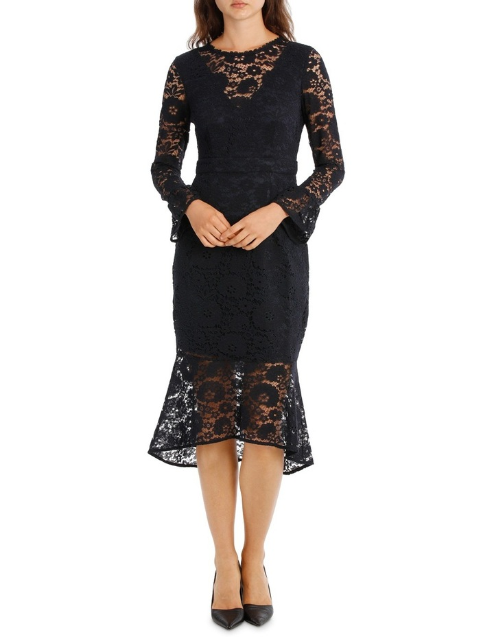 Lace Long Sleeve Midi Dress image 1