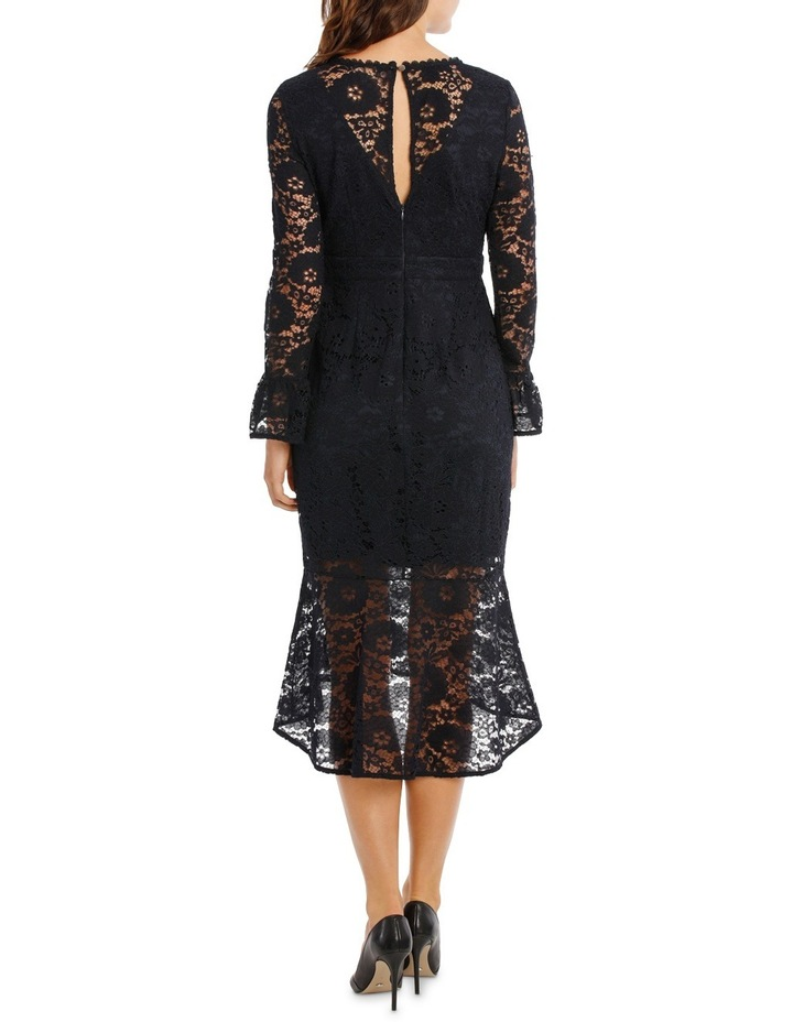 Lace Long Sleeve Midi Dress image 3