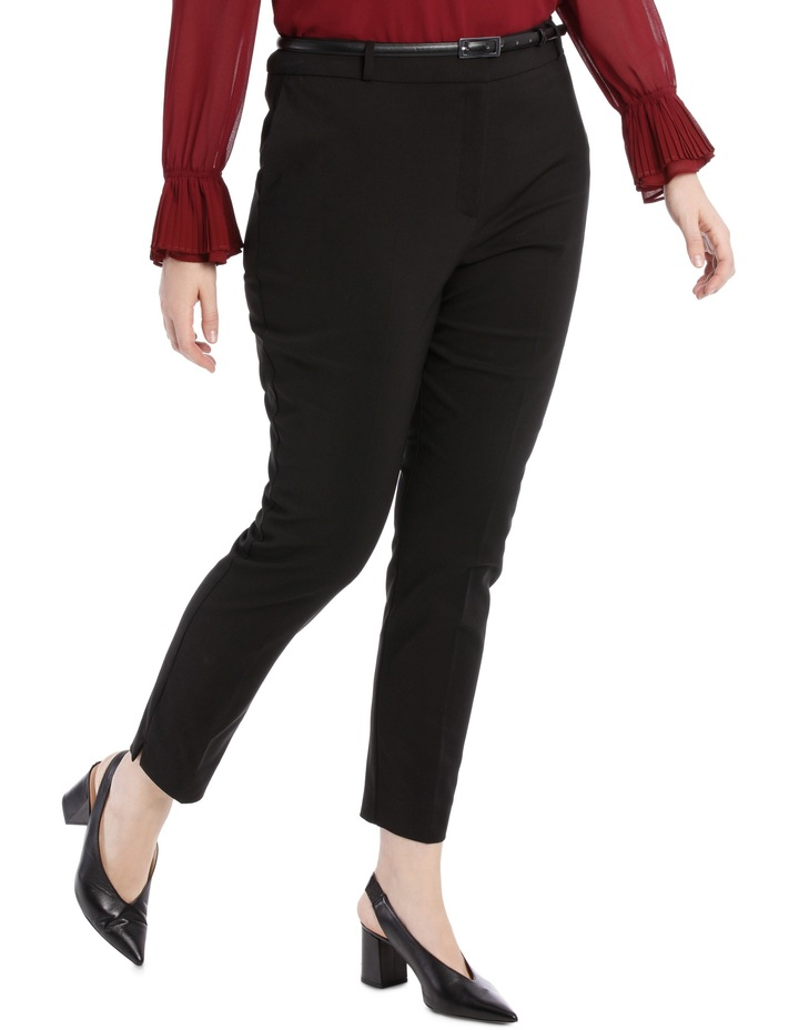 Chloe Belted Smart Pant - Black image 2