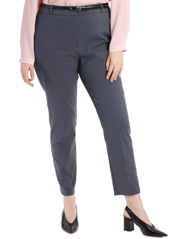 Chloe Belted Smart Pant - Charcoal image 1