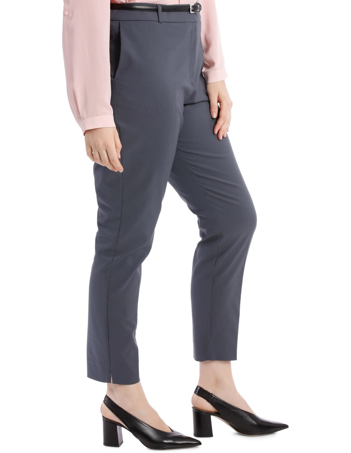 Chloe Belted Smart Pant - Charcoal image 2
