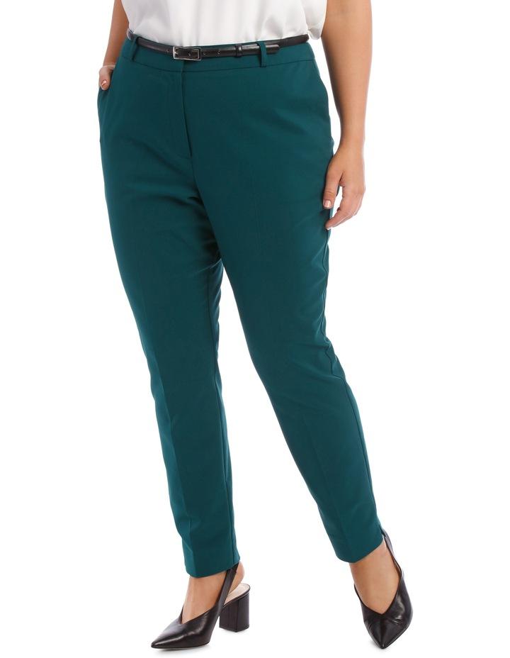 Chloe Belted Smart Pant - Emerald image 1