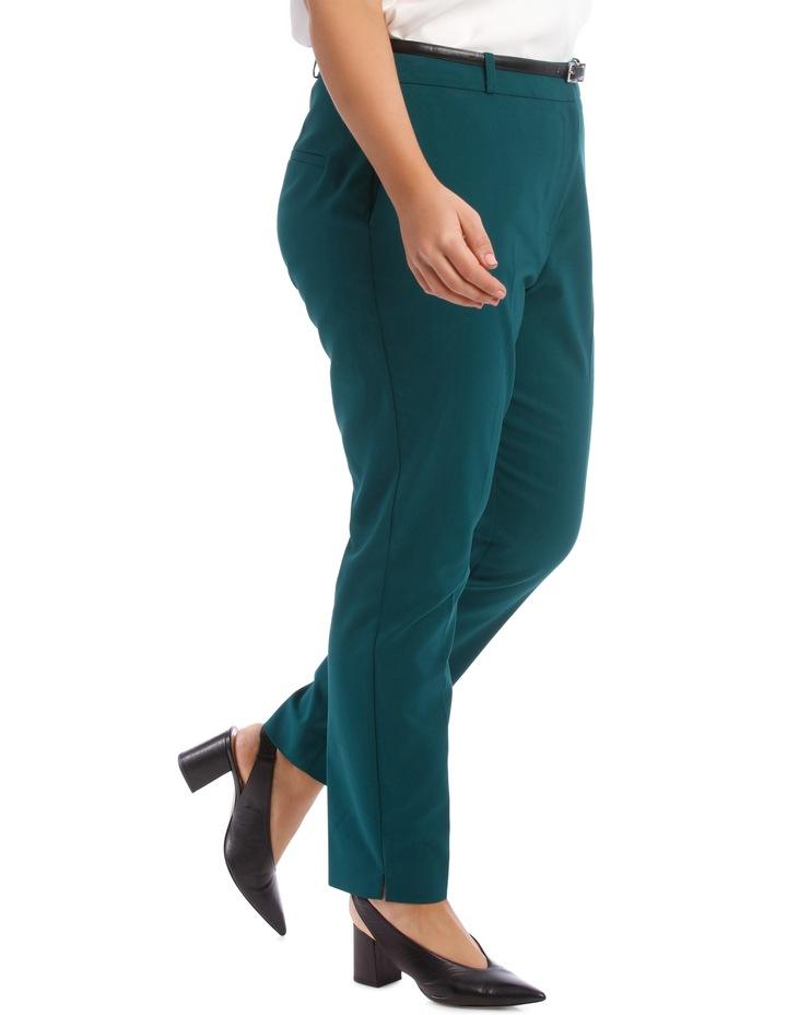 Chloe Belted Smart Pant - Emerald image 2