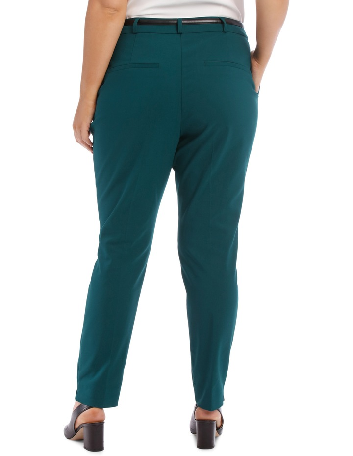 Chloe Belted Smart Pant - Emerald image 3