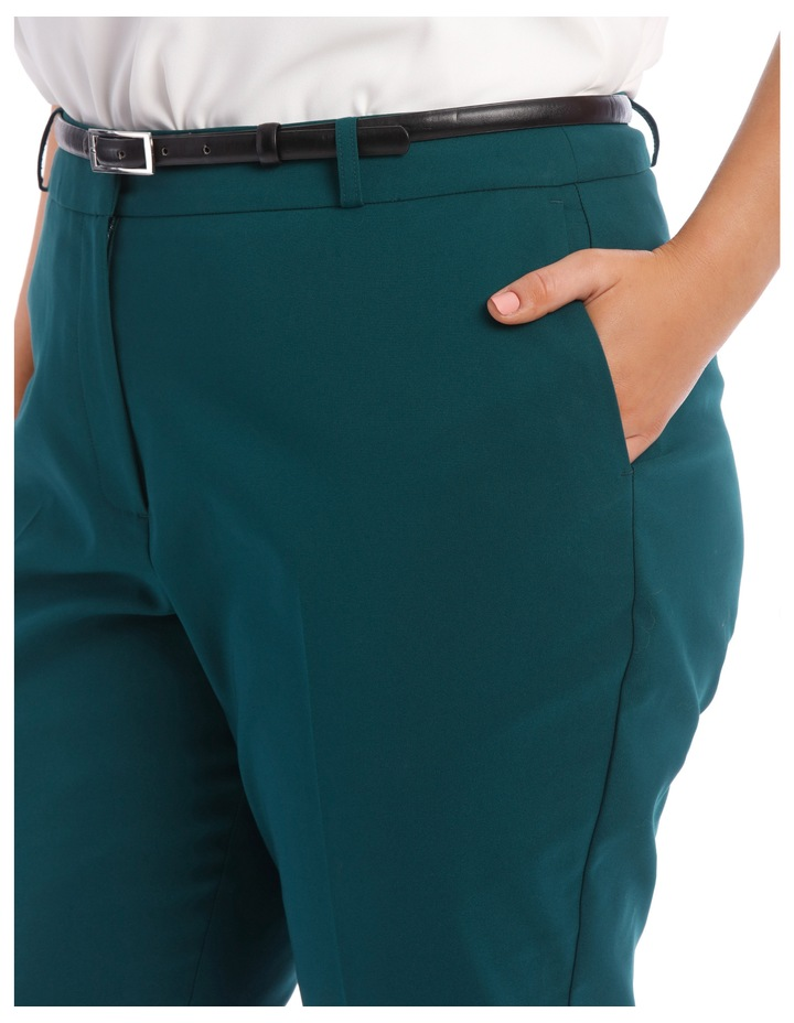 Chloe Belted Smart Pant - Emerald image 4