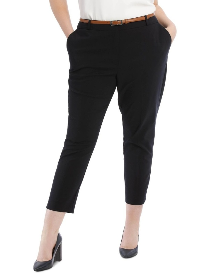 Chloe Cropped Belted Pant - Navy image 1