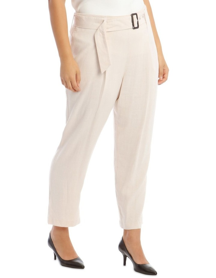 Natural Linen Blend Belted Pant image 2