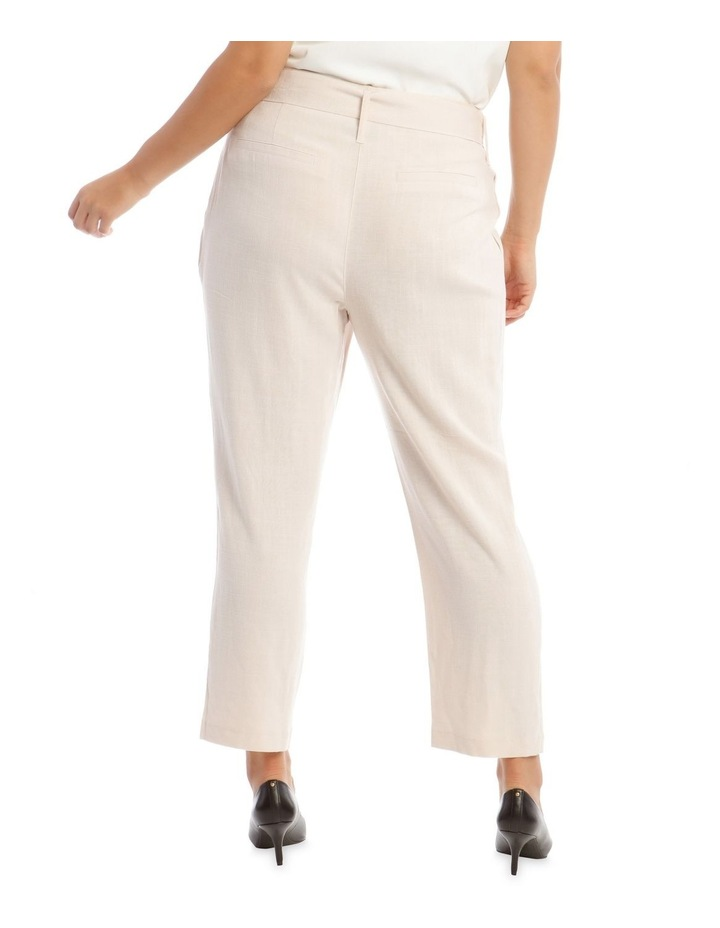 Natural Linen Blend Belted Pant image 3