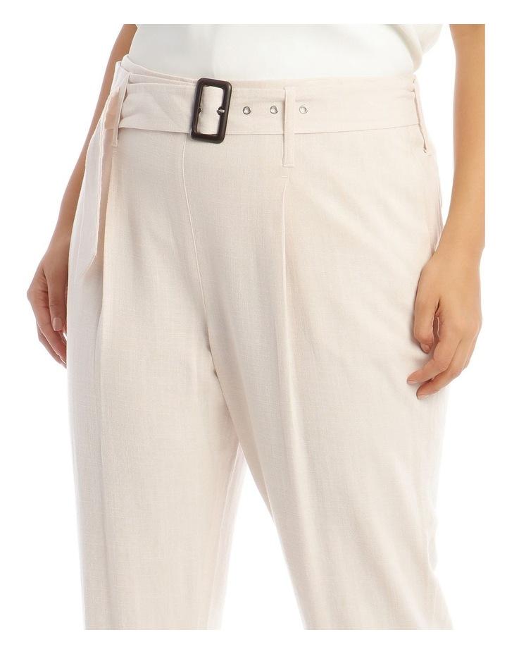Natural Linen Blend Belted Pant image 4