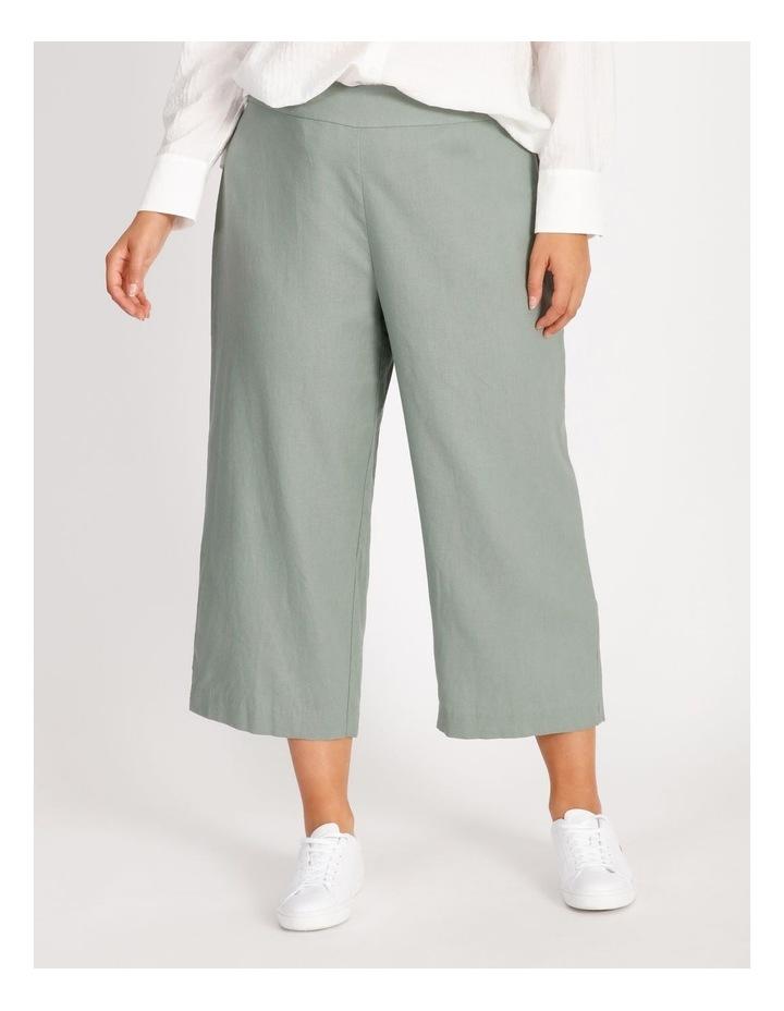 Curve Elastic Back Linen Culottes image 1