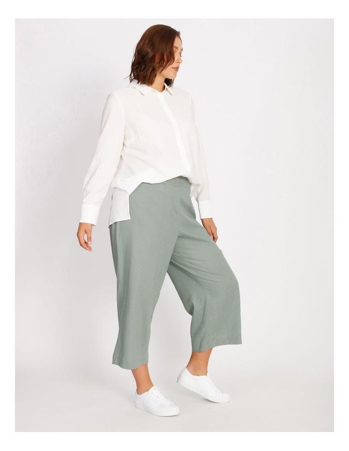 Curve Elastic Back Linen Culottes image 2