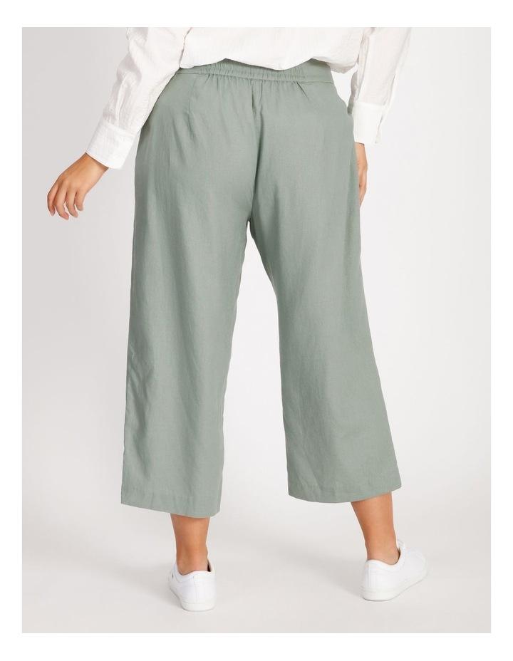 Curve Elastic Back Linen Culottes image 3