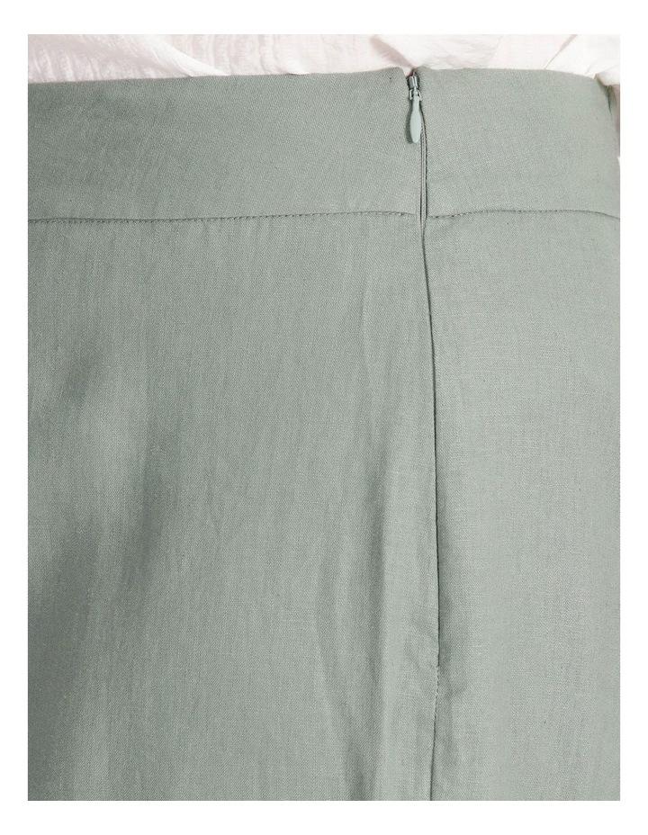 Curve Elastic Back Linen Culottes image 4