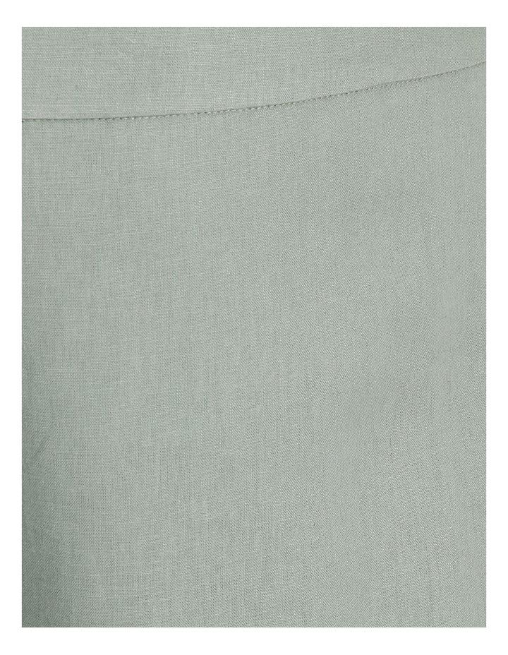 Curve Elastic Back Linen Culottes image 5