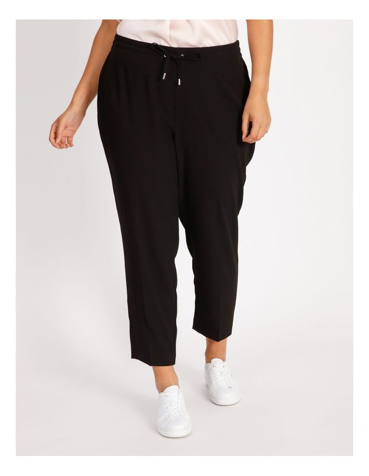 Curve Crepe Relaxed  Jogger Pants image 1