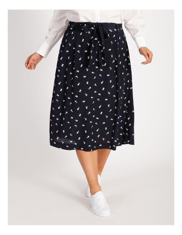 Curve Wrap Midi Skirt image 1