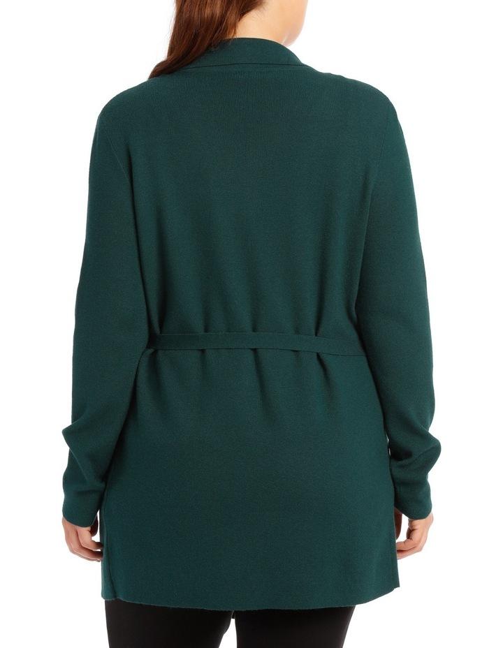 Rib Wrap Cardi - Emerald image 3