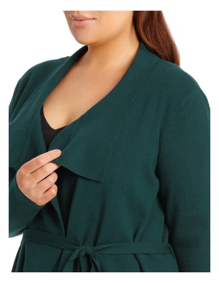 Rib Wrap Cardi - Emerald image 4