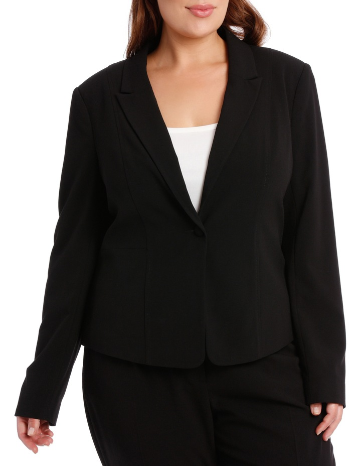 abi one button blazer - black image 1