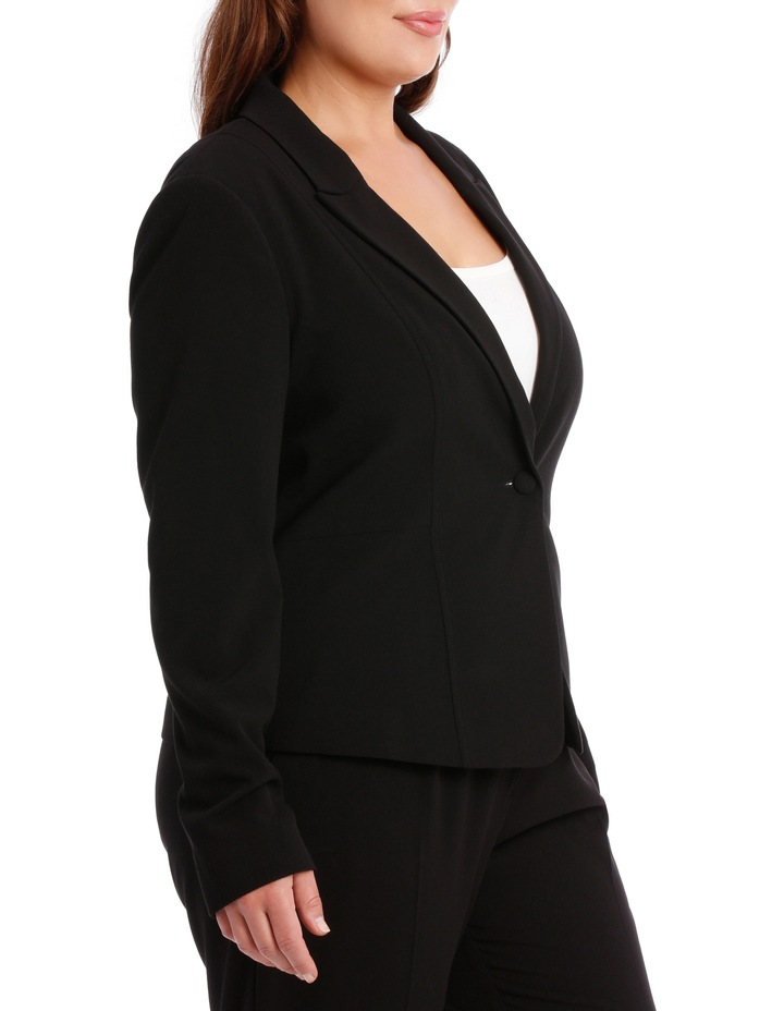 abi one button blazer - black image 2