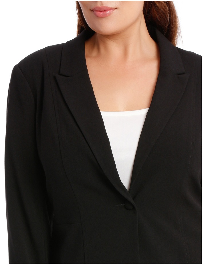 abi one button blazer - black image 4