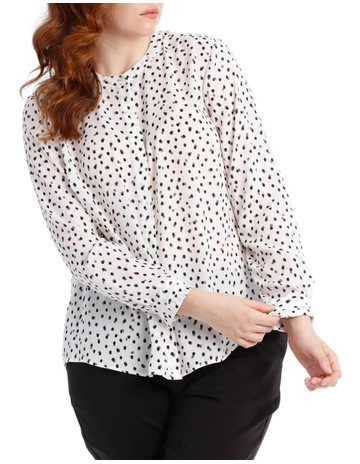 b1bdd95a6984e Tokito Curve pleat sleeve shirt - smudge dot