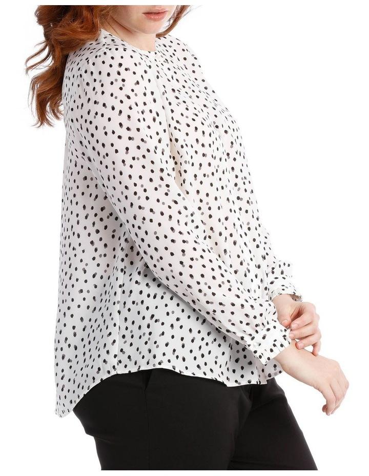 pleat sleeve shirt - smudge dot image 2