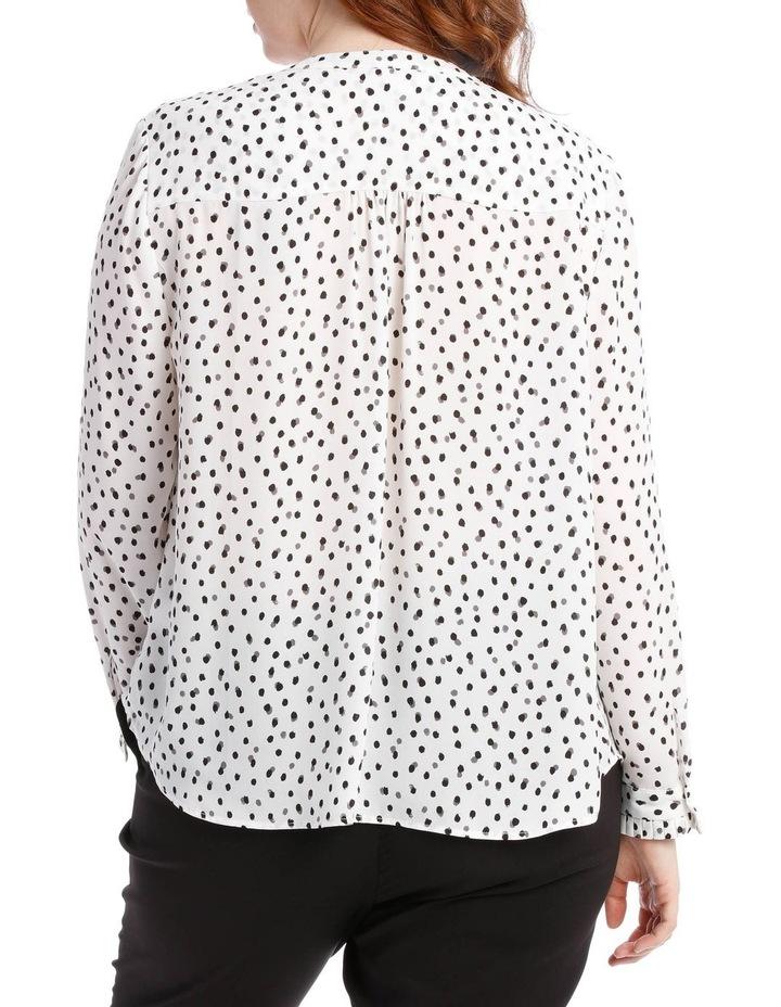 pleat sleeve shirt - smudge dot image 3