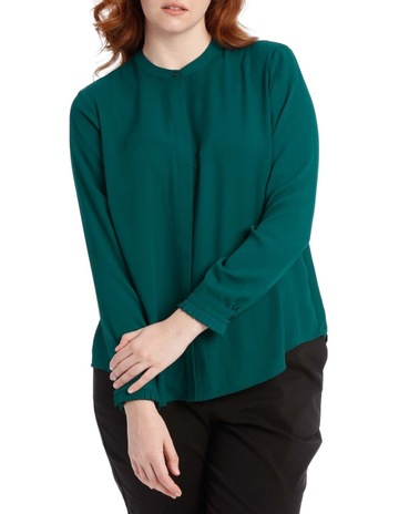 1fcd3df0cc7 Tokito Curve pleat sleeve shirt - emerald