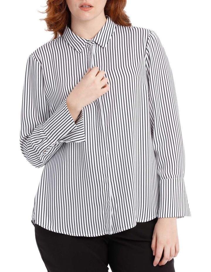 navy stripe work shirt image 1