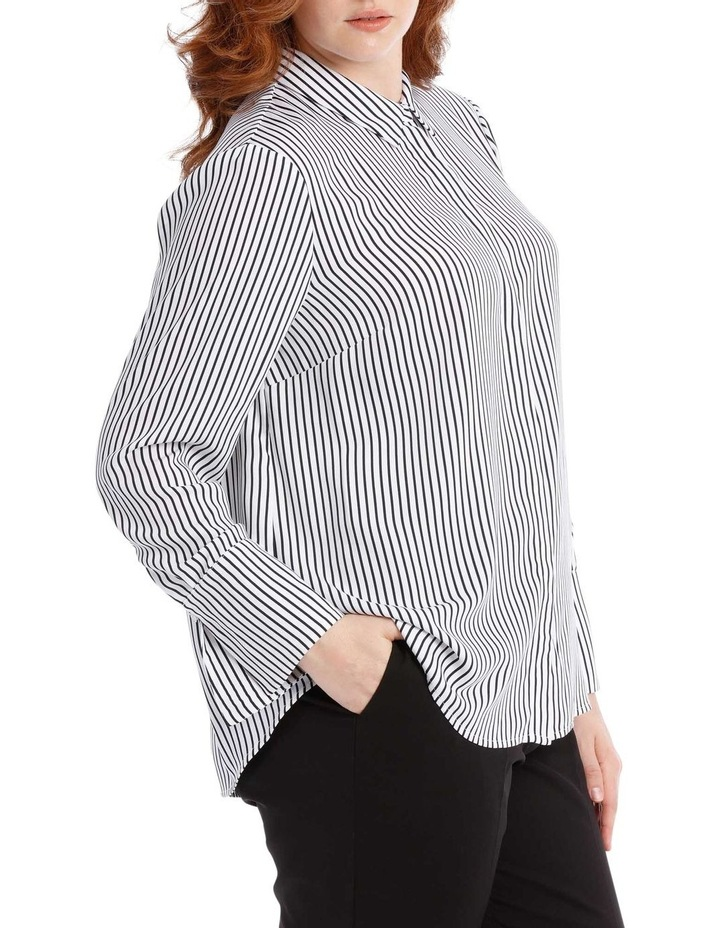 navy stripe work shirt image 2