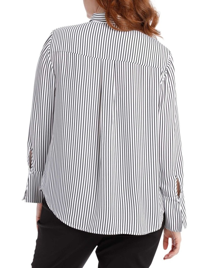 navy stripe work shirt image 3