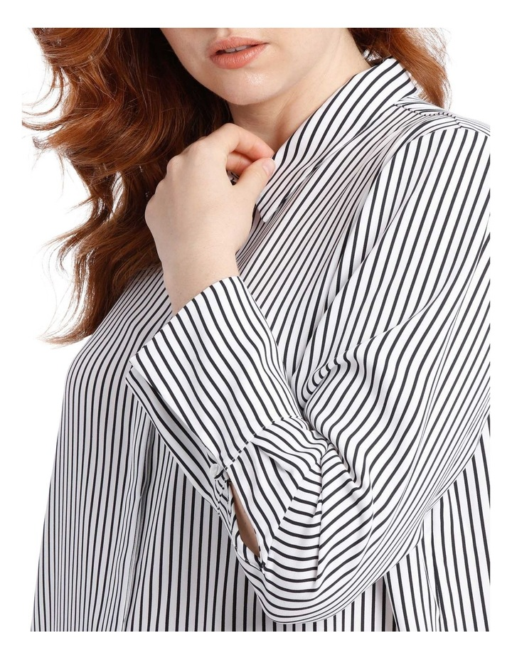 navy stripe work shirt image 4