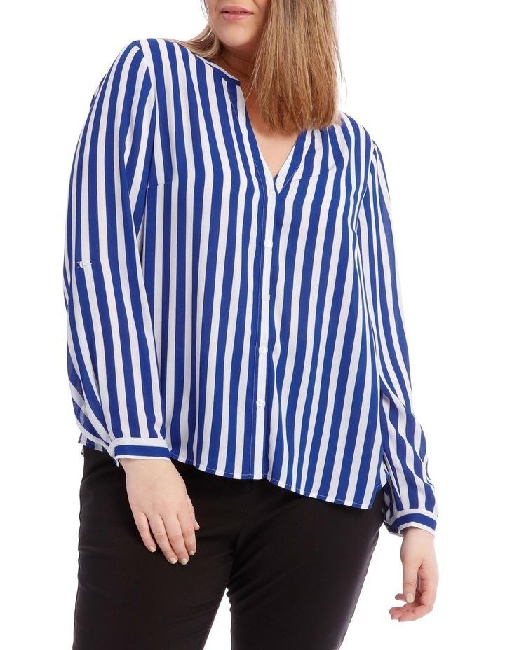 Stripe Button Through Shirt image 1