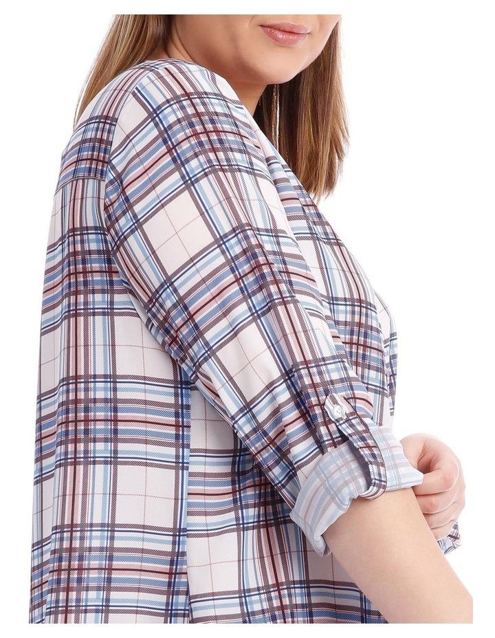 Check Button Through Shirt image 4