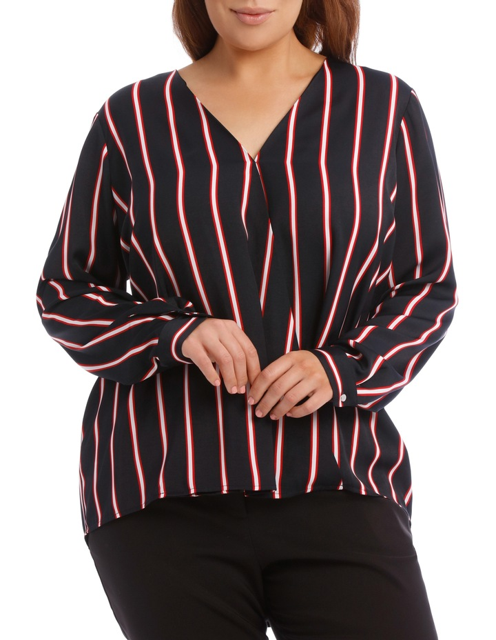 Wrap Shirt - Stripe image 1